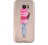 Girl  Pattern TPU Relief Back Cover Case for Galaxy S7/Galaxy S7 Edge/Galaxy S7 Edge Plus