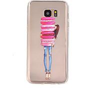 meisje patroon TPU hulp Cover Case voor Galaxy S7 / galaxy S7 edge / galaxy s7 rand plus