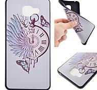 relógio de bolso afiação caso de telefone TPU macio preto para Samsung Galaxy A310 / A510 / A710