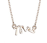 Japan And South Korea Letter Alloy Fashion Simple Necklace