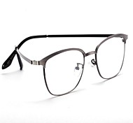 [Free Lenses]  Metal Rectangle Full-Rim Classic / Retro/Vintage / Fashion Prescription Eyeglasses