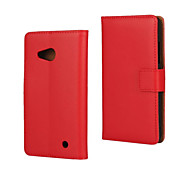 For Nokia Case Wallet / Card Holder / with Stand Case Full Body Case Solid Color Hard PU Leather Nokia Lumia 550