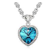 coeur de cristal collier pendentif autriche, beaux bijoux