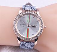 Go for it braccialetto strass lunetta icona bandiera rotonda orologi Orologi in pelle floreali valigetta