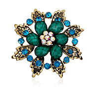 Alloy/Rhinestone/Resin Brooch/Retro Folk Style leaves Flower Brooch/Casual/Party/Daily 1PC