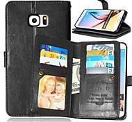 portefeuille en cuir rabat couverture + cash sous + cadre photo cas de téléphone pour samsung galaxy s7 / s7 bord / bord s6 bord + / s6 /