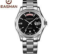 les hommes easman mode noir imperméable entreprise quartz nouvelle multifonction montre pour homme montres