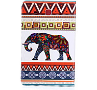 Elephant Pattern PU Leather Material Tablet Sleeve for Samsung Galaxy Tab E 9.6 (T560)