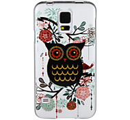 Black Owl IMD+TPU Back Case for Samsung Galaxy S5