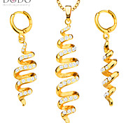 Unique Fashion Distorted Jewelry Set Women Pendants Necklaces Earrings 18K Gold Plated India Jewelry Sets Gift S20143