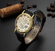 Men's SOKY watch Quartz Waterproof Sports Fashion Watch Hollow Engraving PU Skeleton Watch(Assorted Color) Wrist Watch Cool Watch Unique Watch