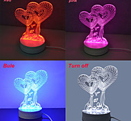Jiawen 3.5W 3D Illusion Creative light Desk lamp (110-220V)