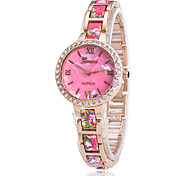 Xu™ Women's Printed Diamonds Bracelet Quartz Watch