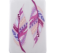 Double Feather Pattern TPU Soft Back Tablet Case for iPad Air 2/iPad 6
