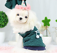 Dog Coat Green / Blue Dog Clothes Spring/Fall Fashion