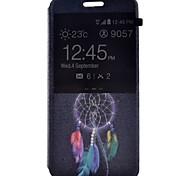 Pour Samsung Galaxy Coque Avec Support Avec Ouverture Clapet Motif Coque Coque Intégrale Coque Attrapeur de rêves Cuir PU pour Samsung