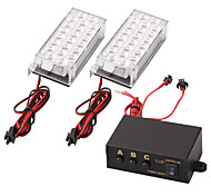 Set Car 22 Led Strobe Emergency Light 3 Flashing Modes