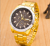 Men's Fashion Stainless Steel Band Quartz Analog Wrist Watch(Assorted Colors) Cool Watch Unique Watch