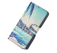 Anchor and Sea Magnetic PU Leather wallet Flip Stand Case cover for Wiko sunset2