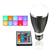 E26/E27 LEDBühnenleuchten A60(A19) 5 Hochleistungs - LED 500 lm RGB Dimmbar / Ferngesteuert / Dekorativ AC 85-265 V 1 Stück