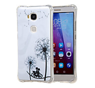 Dandelion with love Pattern Grainy Inner Shockproof Air TPU Case Cover for Huawei Honor Play 5X / Honor 5X