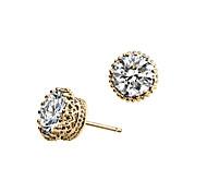Luxury Stud Earrings for Women Vintage Shining Crown Earrings Fashion Jewelry Accessories Silver Plated
