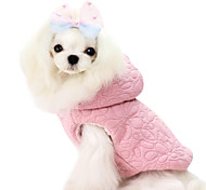 Dog Coat / Hoodie / Clothes/Clothing Pink / Yellow Winter Floral / Botanical Fashion / Keep Warm