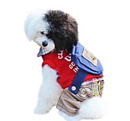 Dog Clothes/Jumpsuit / Clothes/Clothing Red / Green Winter / Spring/Fall Letter & Number Keep Warm / Fashion