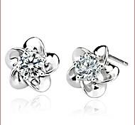 925 Silver Sterling Silver Jewelry Earrings Sample Wintersweet Stud Earring 1Pair
