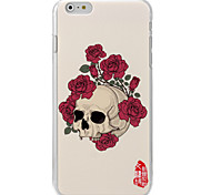 Skull flower painting back case for iPhone6 | 6s