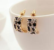 Stud Earrings Rhinestone Alloy Gold Jewelry 2pcs