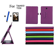 Fashion Top Quality Smart PU Leather Cover For Samsung Galaxy Tab A 8.0 T350 T355 Tablet Case+Free Screen Protector+ Pen