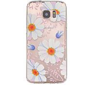 bloempatroon TPU hulp Cover Case voor Galaxy S7 / edge galaxy s7