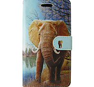Elephant Design PU Cover for IPhone 6 Iphone6S