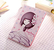 Little Girl Series Two PU Leather Full Body Case With Stand for iPad Mini 3/2/1
