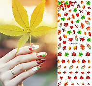 Nail Design Water Transfer Nails Art Sticker Sexy Colorful Maple Leaf Nail Wraps Sticker