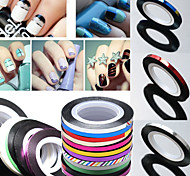 Rolls Striping Tape Line Nail Sticker Nail DIY Kit Nail Art UV Gel Tips 1PC