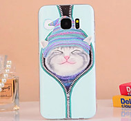 For Samsung Galaxy Case Embossed Case Back Cover Case Cat TPU Samsung S7 edge / S7