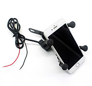 Motorcycle Stand Holder 12V USB Charger Power Outlet Socket for iPhone 6/6 Plus GPS