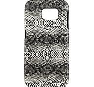 patrón de piel de serpiente de la PC de la contraportada para Samsung Galaxy s7
