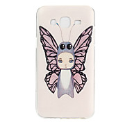 Butterfly Pattern TPU Soft Case Phone Case for Samsung Galaxy J5/ GALAXY Core Prime