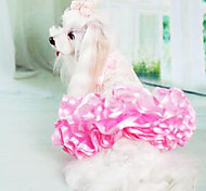 Dog Dress White / Green / Pink / Yellow Dog Clothes Summer Fashion