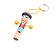 Wood Colorful Pirate Whistle Toys Musical Instruments Music Toys for Kids