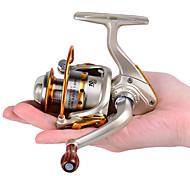 Carrete para pesca en hielo 5.2:1 10 Rodamientos de bolas IntercambiablePesca de baitcasting / Pesca en hielo / Pesca al spinning / Pesca