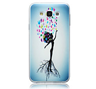 Trees Person Pattern TPU Material Phone Case for Samsung Galaxy E5/E7