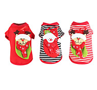 Dog Clothes/Jumpsuit / Clothes/Clothing Black / Rainbow Winter Christmas Fashion