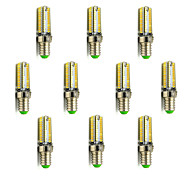 10pcs G4 G9 E12 E14 5W 104x3014SMD 420LM 3000K/6000K Warm White/Cool White Light LED Corn Bulb(AC200-240V)