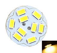 Marsing® G4 2W 200lm 3500K/6500k 9x5730 LED Round Board Warm/Cool White Light Lamp (AC/DC12V)
