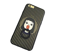 Girl Pattern with Hand Ring Back Case for iPhone 6
