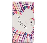Finger Pencil Love Painted PU Phone Case for Samsung Galaxy A3(2016)/A5(2016)